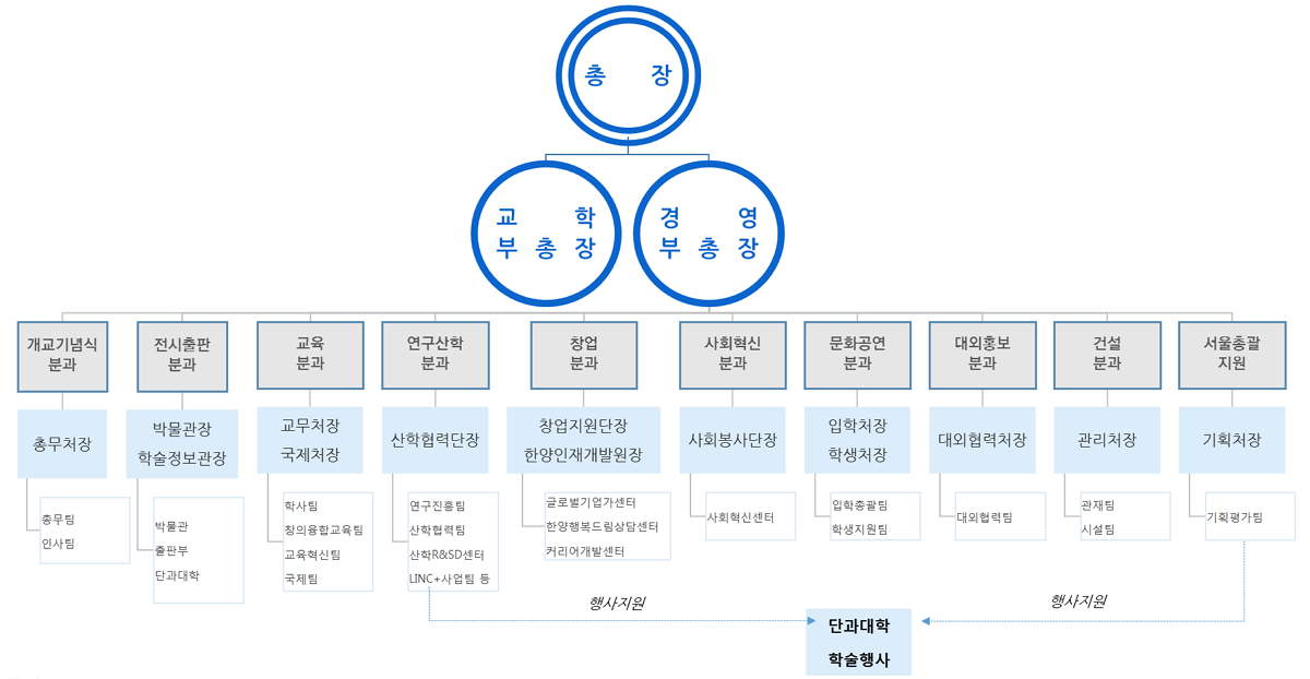 서울캠퍼스 추진조직 구조도